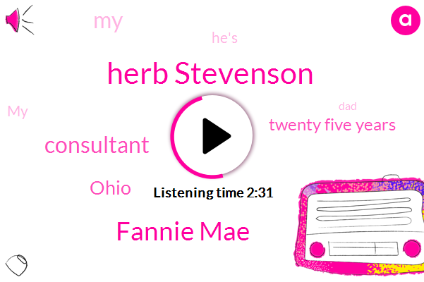 Herb Stevenson,Fannie Mae,Consultant,Ohio,Twenty Five Years