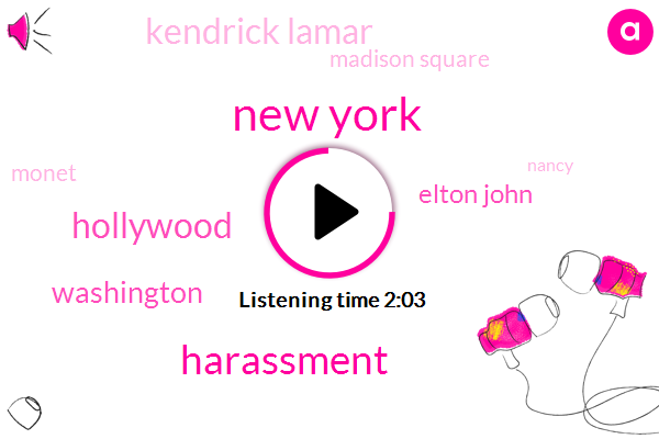 New York,Harassment,Hollywood,Washington,Elton John,Kendrick Lamar,Madison Square,Monet,Nancy,Bruno Mars,Broadway,Patti Lupone,Louise Fawns