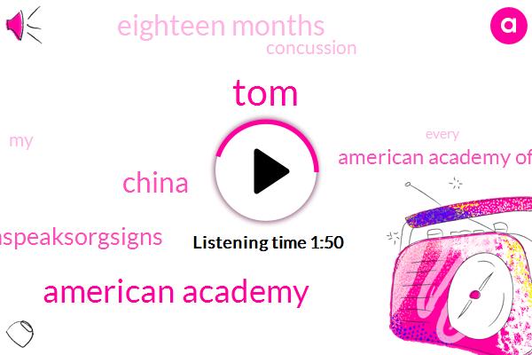 TOM,American Academy,China,Autismspeaksorgsigns,American Academy Of Neurology,Eighteen Months