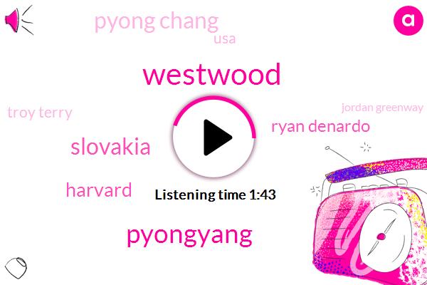 Westwood,Pyongyang,Slovakia,Harvard,Ryan Denardo,Pyong Chang,USA,Troy Terry,Jordan Greenway,Olympics,United States,Tony Granada,Zishwili