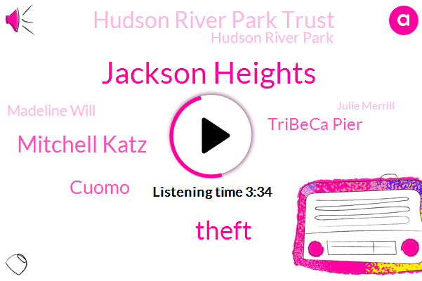 Jackson Heights,Theft,Mitchell Katz,Cuomo,Tribeca Pier,Hudson River Park Trust,Hudson River Park,Madeline Will,Julie Merrill,Juliet,Cove,Carol,Papa,CEO,Queens,Youto,Official,Brooklyn