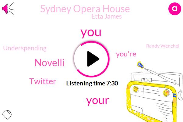 Novelli,Twitter,Sydney Opera House,Etta James,Underspending,Randy Wenchel,TIM,RAY,Thousand Dollars