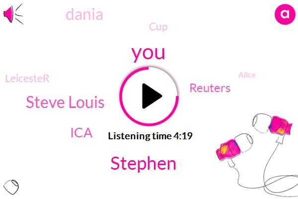 Stephen,Steve Louis,ICA,Reuters,Dania,CUP,Leicester,Alice,Editor,Writer,Nita,Denny