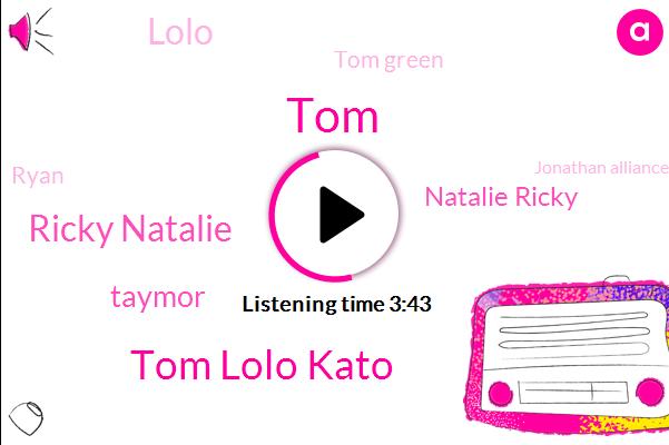 Tom Lolo Kato,Ricky Natalie,TOM,Taymor,Natalie Ricky,Lolo,Tom Green,Ryan,Jonathan Alliance,Cato,Lola,Lillo,Sharad,CBS,DAN,Joey,Doron,One Week