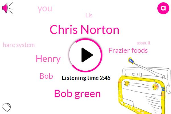 Chris Norton,Bob Green,Henry,BOB,Frazier Foods,LIS,Hare System,Assault
