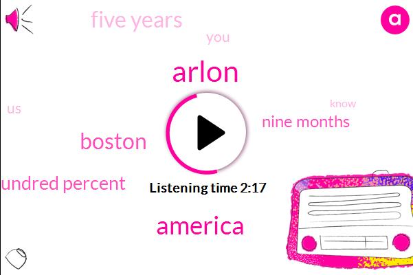 Arlon,America,Boston,Hundred Percent,Nine Months,Five Years