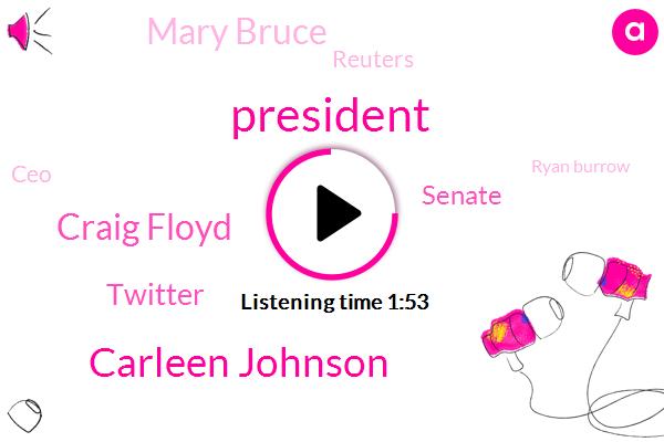 ABC,President Trump,Carleen Johnson,Komo,Craig Floyd,Twitter,Senate,Mary Bruce,Reuters,CEO,Ryan Burrow,Washington,Rono,Newman,California