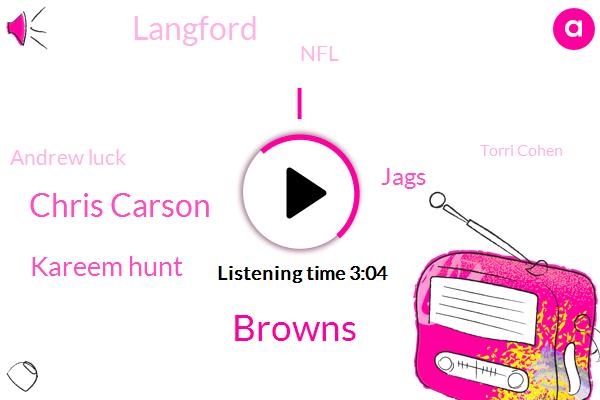Browns,Chris Carson,Kareem Hunt,Jags,Langford,NFL,Andrew Luck,Torri Cohen,Marla Mac,Seahawks,Wilkins,Rashad Penny,San Diego,Football,Two Hundred Twenty Pounds,Eight Yards,Eight Years,Five Yards
