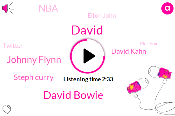 David Bowie,Johnny Flynn,Steph Curry,David Kahn,NBA,David,Elton John,Twitter,Rick Fox,Jonathan Rhys Myers,Todd Haynes,GM,Syracuse,Lakers,Basketball,Randy Malik,Apple,Netflix,North Carolina,Opec