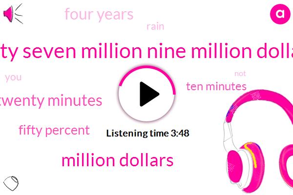 Thirty Seven Million Nine Million Dollars,Million Dollars,Twenty Minutes,Fifty Percent,Ten Minutes,Four Years