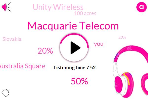 Macquarie Telecom,50%,20%,Australia Square,Unity Wireless,100 Acres,Slovakia,23%,Sydney,Netflix,Corey Corey Corey Park,2.5%,Clark,Last Week,Spotify,10,39.8%,4%,Australian Stock Exchange,15 Years