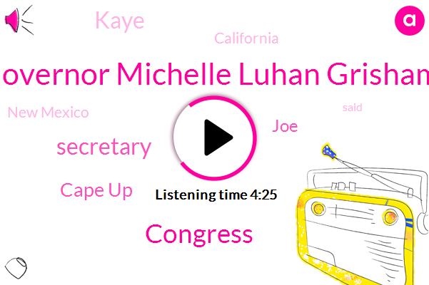 Governor Michelle Luhan Grisham,Secretary,Congress,Jonathan,Cape Up,JOE,Kaye,California,New Mexico