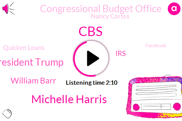 CBS,Michelle Harris,President Trump,William Barr,IRS,Congressional Budget Office,Nancy Cortes,Quicken Loans,Facebook,World Trade Organization,China,Senate Judiciary,Steve Dorsey,United States,Washington,Marijuana