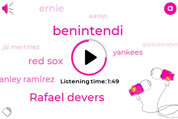 Rafael Devers,Benintendi,Red Sox,Hanley Ramirez,Yankees,Ernie,Aaron,Jd Martinez,Giancarlo Stanton
