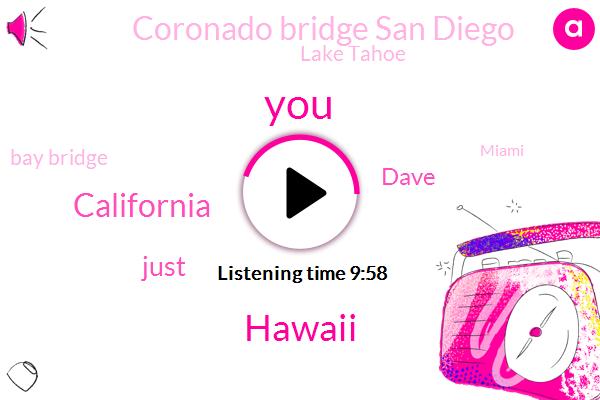 Hawaii,California,Dave,Coronado Bridge San Diego,Lake Tahoe,Bay Bridge,Miami,Bill Clinton,Jerry Brown,Dart,Ryan Seacrest,SKI,Joe Montana,Executive,Chicago,Rosa,Marsha,Kelly Ripa,Four One Five Two Nine Five K