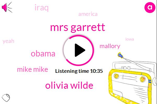 Mrs Garrett,Olivia Wilde,Barack Obama,Mike Mike,Mallory,Iraq,America,Iowa,Mindy,U._C._L._A,New York,Senator,Rheinfelden Seinfeld,Mody Modena,Airbnb,Twitter,Mrs Garrod,Mclane Mclane