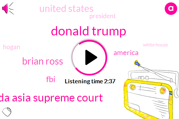 Donald Trump,Canada Asia Supreme Court,Brian Ross,FBI,America,United States,President Trump,Hogan,White House,Attorney,Travel Ban,ABC,Flynn,Billy Bush,Senate,Three Days