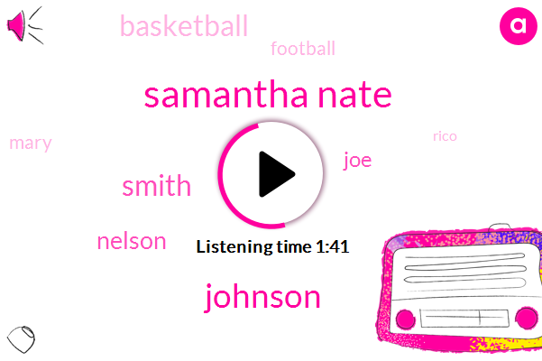 Samantha Nate,Johnson,Smith,Nelson,JOE,Basketball,Football,Mary,Rico,Florida,Texas,Seville,Maryland,FIU,Kentucky,Jordan Jones,Lexington,Philippe,Three Hundred Fifty Yards,Thirty Percent,Milton