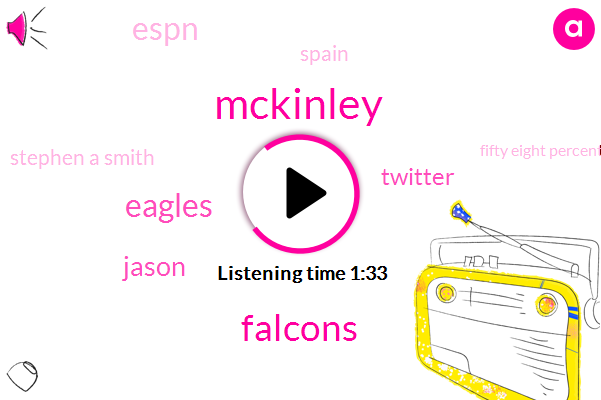 Mckinley,Falcons,Eagles,Jason,Twitter,Espn,Spain,Stephen A Smith,Fifty Eight Percent,Forty Two Percent