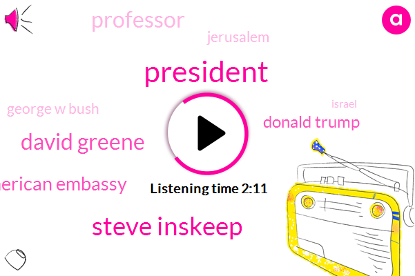 Steve Inskeep,David Greene,American Embassy,Donald Trump,President Trump,Professor,Jerusalem,George W Bush,Israel,United States,NPR,Daniel Kurtzer,Princeton Besser,Dave