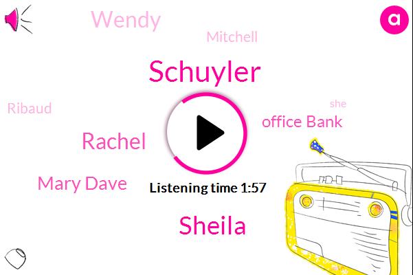 Schuyler,Sheila,Rachel,Mary Dave,Office Bank,Wendy,Mitchell,Ribaud