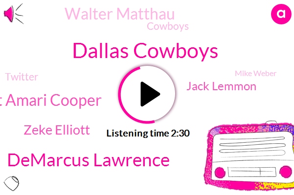 Dallas Cowboys,Demarcus Lawrence,Prescott Amari Cooper,Zeke Elliott,Jack Lemmon,Walter Matthau,Cowboys,Twitter,Mike Weber,Mr. Sizemore,TOM,Steven Jones,Anderson
