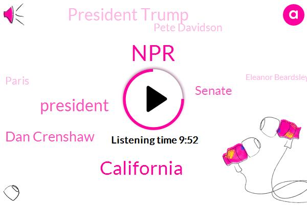NPR,California,President Trump,Dan Crenshaw,Pete Davidson,Paris,Senate,Eleanor Beardsley,West Virginia,Los Angeles,Us Senate,Snyder Npr,France,Benedict Cumberbatch