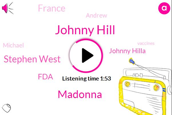 Johnny Hill,Madonna,Stephen West,FDA,Johnny Hilla,France,Andrew,Michael