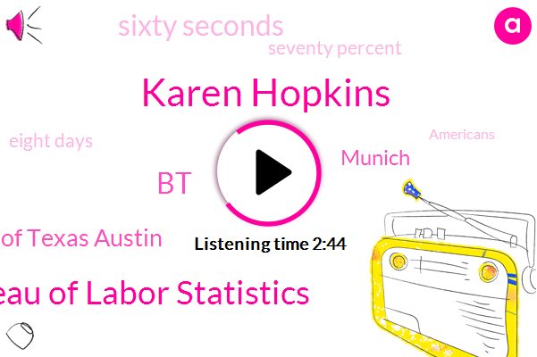 Karen Hopkins,Us Bureau Of Labor Statistics,BT,University Of Texas Austin,Munich,Sixty Seconds,Seventy Percent,Eight Days
