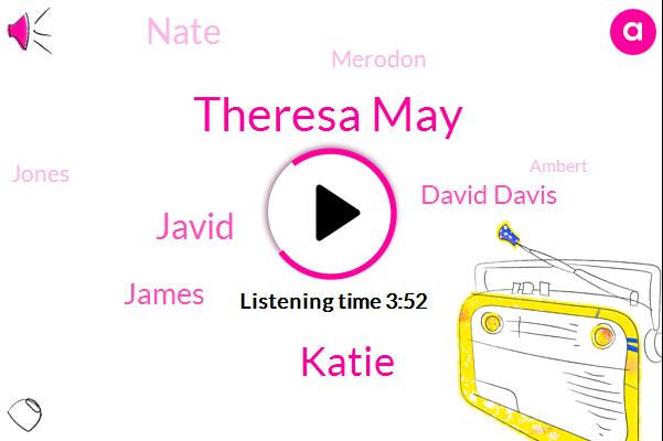 Theresa May,Katie,Javid,James,David Davis,Nate,Merodon,Jones,Ambert,Joel,Storm,Rosa,Jarvis,Javaid,Fifty Percent