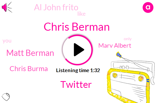 Chris Berman,Twitter,Matt Berman,Chris Burma,Marv Albert,Al John Frito