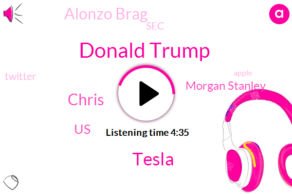 Donald Trump,Tesla,Chris,United States,Morgan Stanley,Alonzo Brag,SEC,Twitter,Apple