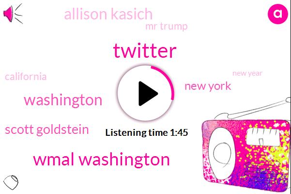 Twitter,Wmal Washington,Washington,Scott Goldstein,New York,Allison Kasich,Mr Trump,California,New Year,Bill Thompson,Montgomery County,Fire Chief,President Trump,Pasadena,Six Thirty W,Ten Degrees