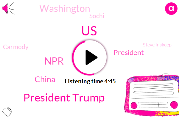 President Trump,United States,NPR,China,Washington,Sochi,Carmody,Steve Inskeep,Laura Janki,Scott Horsely,Russia,Supreme Court,Governor Steve Bullock,Brian Watt,Montana