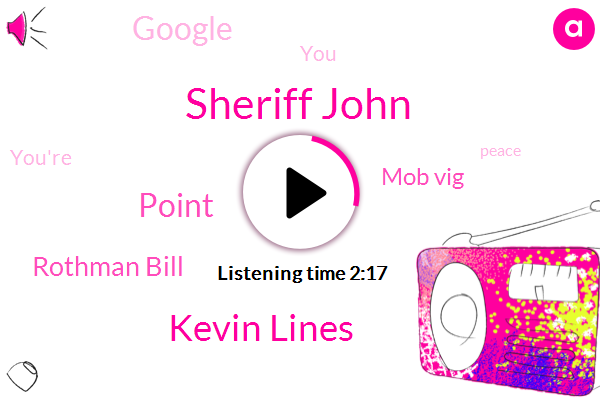Sheriff John,Kevin Lines,Point,Rothman Bill,Mob Vig,Google