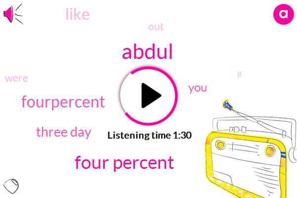 Abdul,Four Percent,Fourpercent,Three Day
