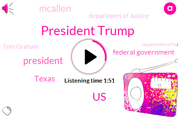 President Trump,United States,FOX,Texas,Federal Government,Mcallen,Department Of Justice,Tom Graham,Department Of Homeland,Tracy Gallagher,Flora,China,Eric,One Hundred Thirteen Percent