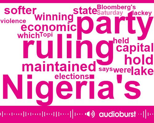 Topi Lackey,Bloomberg,Nigeria