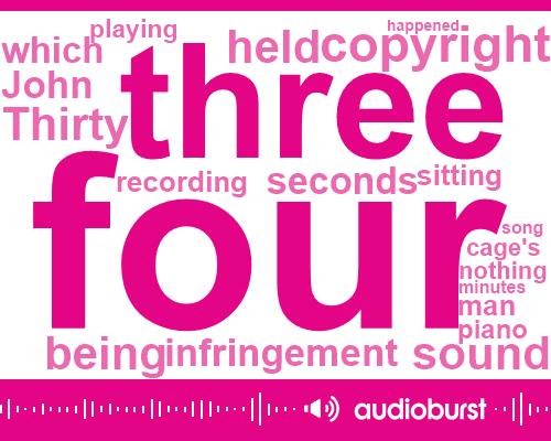 MEP,Youtube,FAY,John Cage,Alex,Four Minutes,Thirty Three Seconds,Twenty Four Hours,Three Eight Hour,Thirty Seconds,Eight Hour