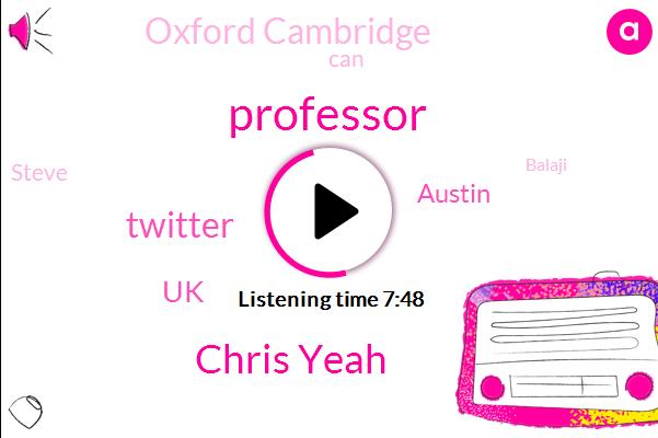 PHD,Chris Yeah,Professor,Twitter,UK,Austin,Oxford Cambridge,Steve,Balaji,Rape,PC,Papa Peachy,India