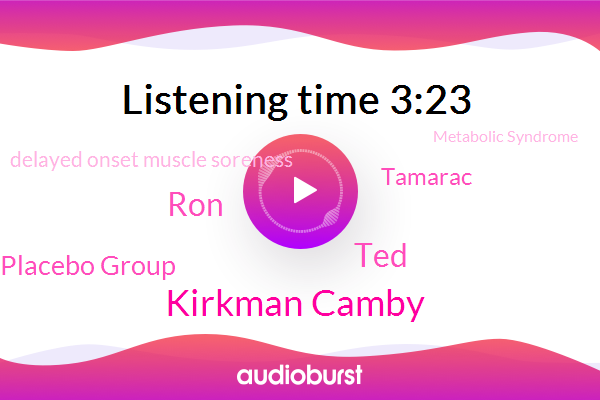 Delayed Onset Muscle Soreness,Kirkman Camby,Placebo Group,Metabolic Syndrome,Tamarac,TED,RON
