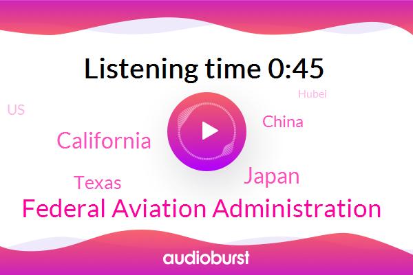 Japan,California,Texas,China,Federal Aviation Administration,Persian Gulf,United States,Hubei,Gulf Of Oman,Iran