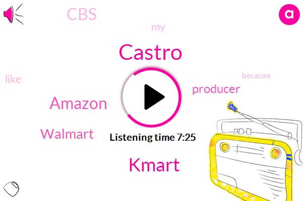 CBS,Producer,Castro,Kmart,Amazon,Walmart