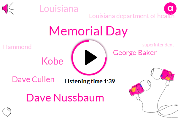 Memorial Day,Dave Nussbaum,Kobe,Dave Cullen,George Baker,Louisiana,Louisiana Department Of Health,Hammond,Superintendent,Colonel Kevin Reeves George,Department Of Veterans Affairs,Secretary,Joey Strickland