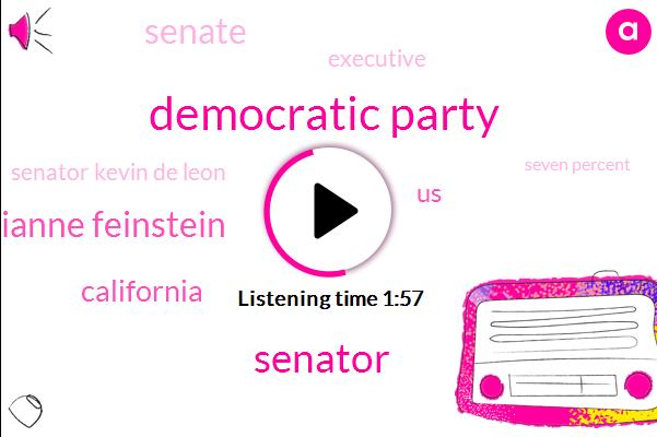 Democratic Party,Senator,Senator Dianne Feinstein,United States,California,Senate,Executive,Senator Kevin De Leon,Seven Percent,Sixty Five Percent