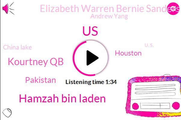 United States,Hamzah Bin Laden,Kourtney Qb,Pakistan,Houston,Elizabeth Warren Bernie Sanders Kamal Harris,Andrew Yang,China Lake,U. S.,U. S. Navy,Joe Biden,Beto O'rourke,NBC,K. F. C. K,Two Percent,One Million Dollar,One K