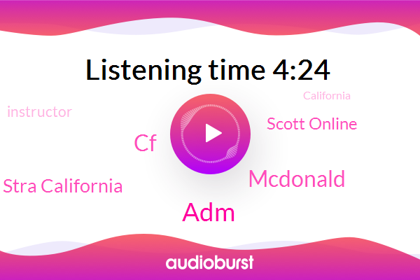 ADM,CF,California,Instructor,Mcdonald,Stra California,Virginia,San Francisco,Scott Online