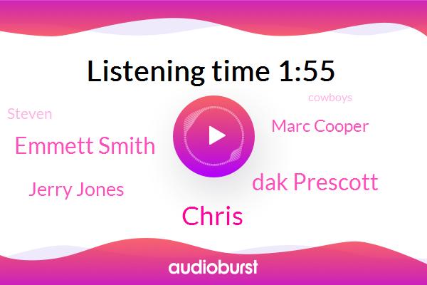 Cowboys,Chris,Dak Prescott,Emmett Smith,Jerry Jones,Marc Cooper,Steven