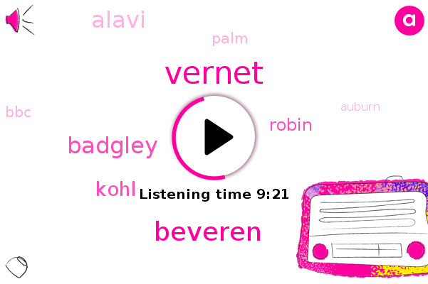 Vernet,Beveren,Palm,Auburn,BBC,Badgley,Kohl,Robin,Alavi