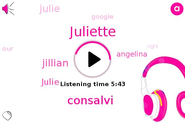 Consalvi,Juliette,Jillian,Julie,Angelina,Google